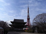 浄土宗大本山 増上寺境内から眺める東京タワー.JPG