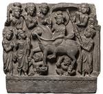 インドの仏展の仏伝「出家踰城(しゅっけゆじょう)」.png