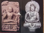 インドの仏展の仏坐像と弥勒菩薩坐像.JPG