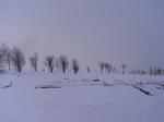 北海道「ふれあいの里」新篠津村雪景色