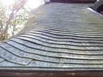 京都龍安寺石庭を囲む塀の屋根4.JPG