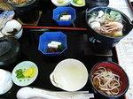 伊豆天城浄蓮の滝茶屋海鮮鍋と桜うどんの昼食.JPG