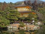 鏡湖池湖面に写る金閣寺2.JPG